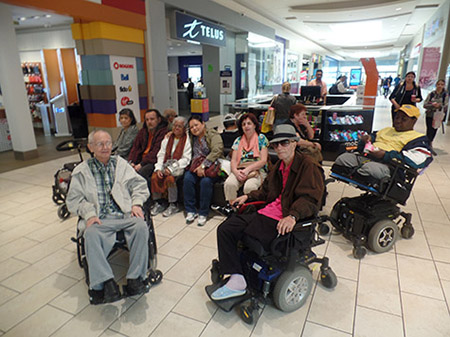 Rekai Centre residents enjoying a community outing
